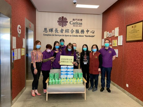 香港焯華金號代澳門朋友捐的防疫物資