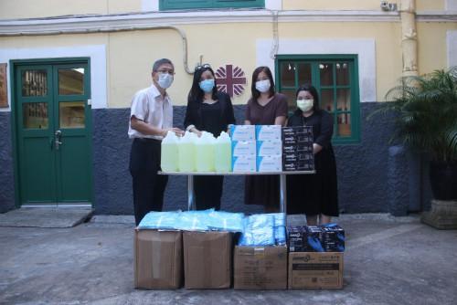 亞洲先鋒娛樂股份有限公司捐贈防疫物資